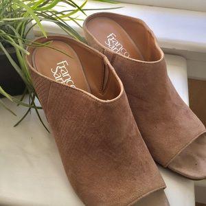 Franco Sarto Suede Mule Sandals